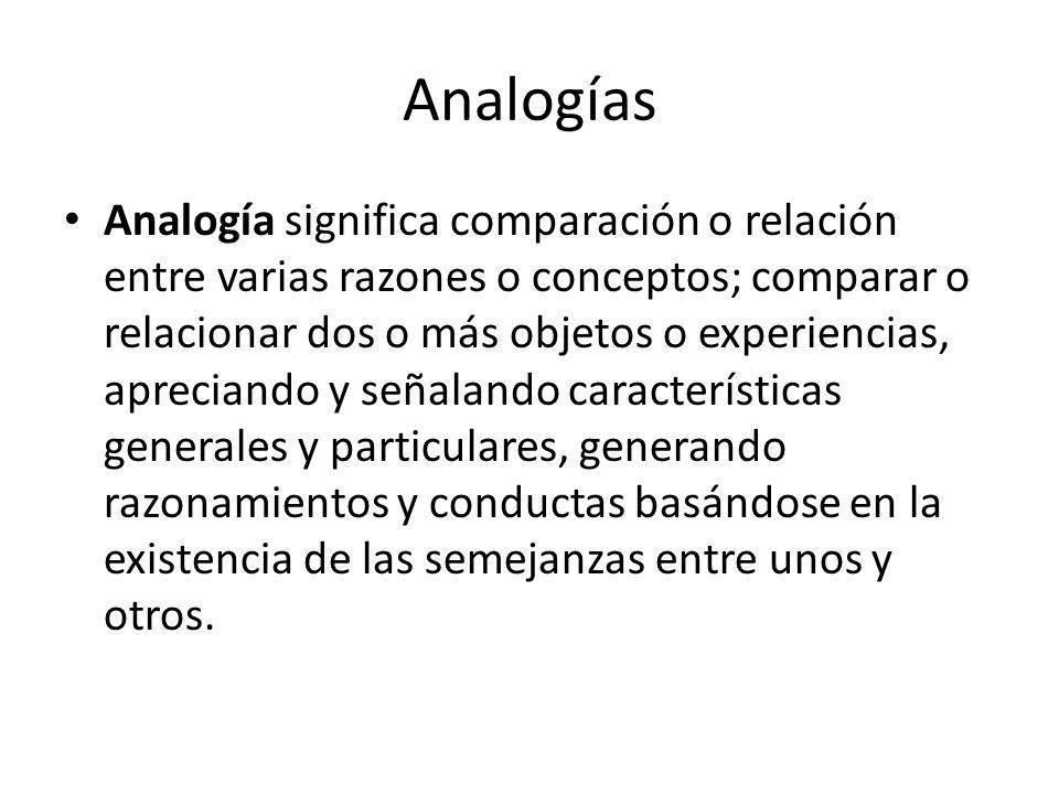 Analogías