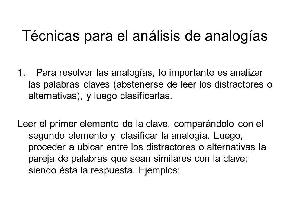 Técnicas para el análisis de analogías