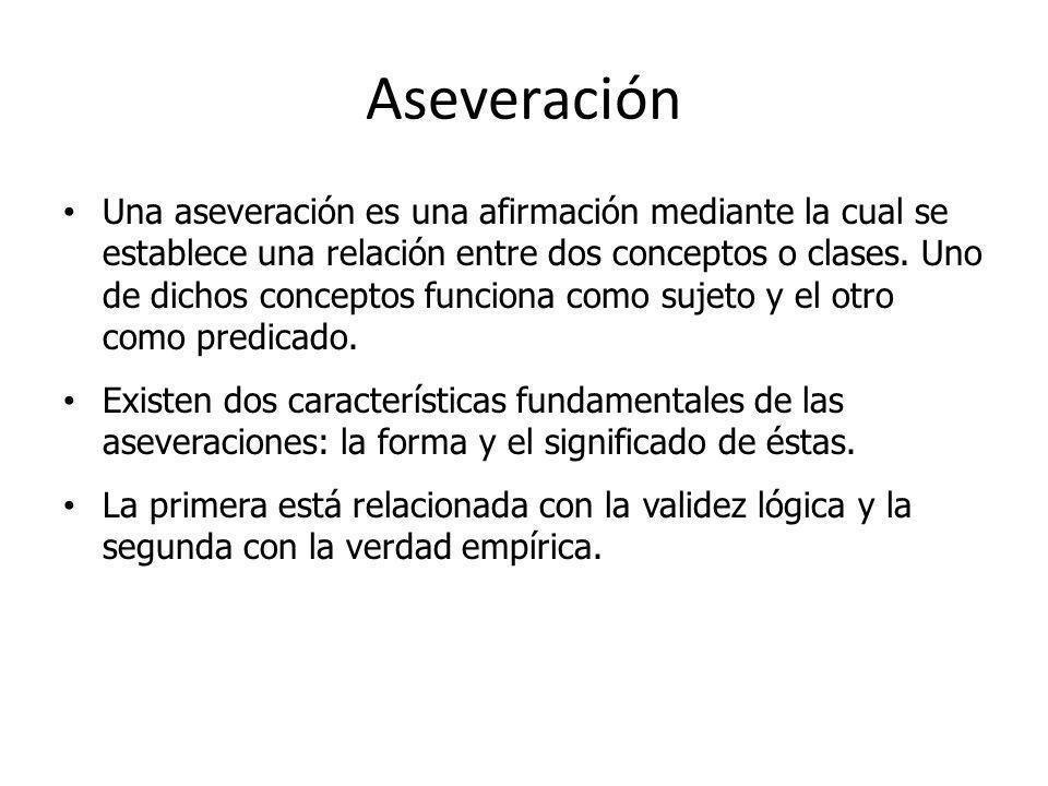 Aseveración