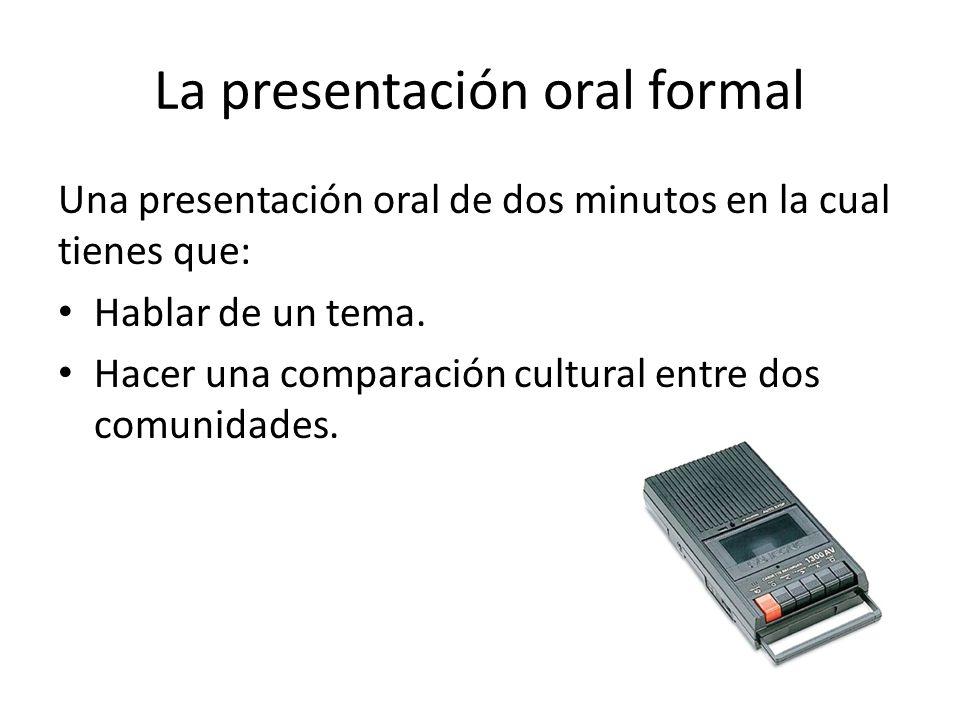 La presentación oral formal