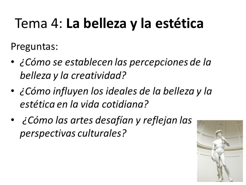 Tema 4: La belleza y la estética