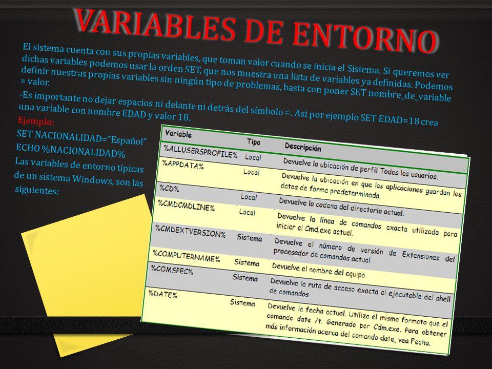 VARIABLES DE ENTORNO