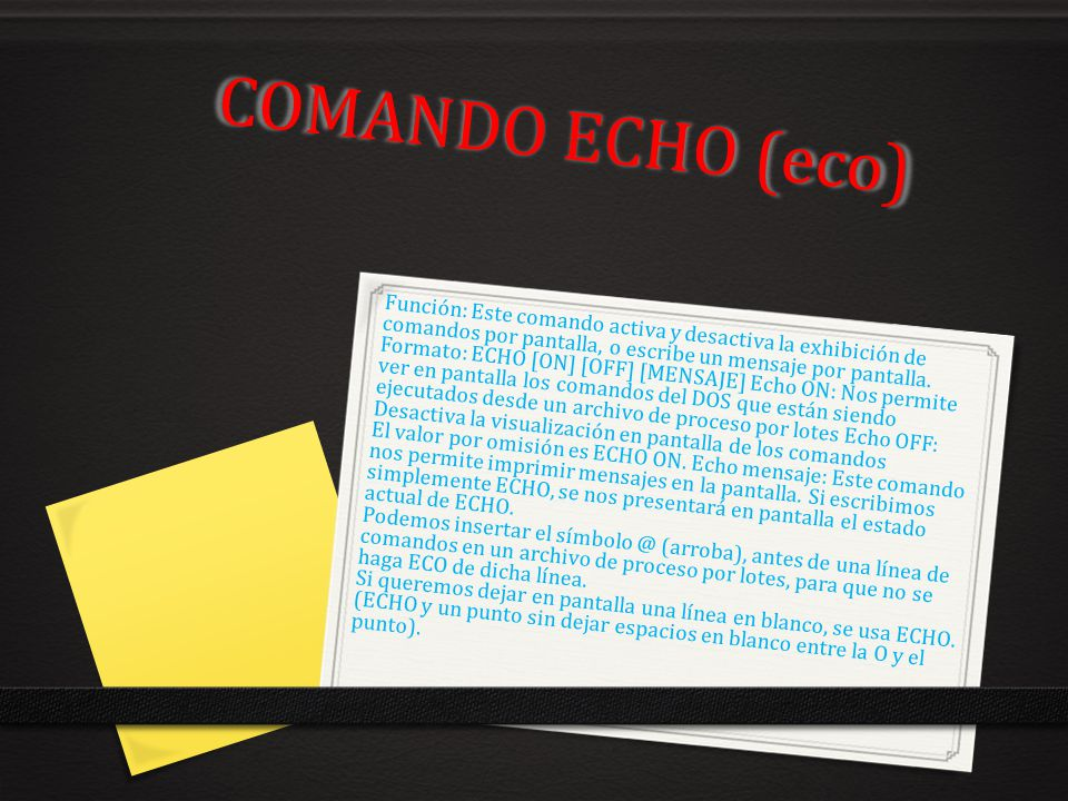 COMANDO ECHO (eco)