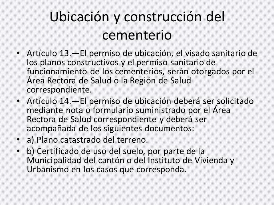 Ubicación y construcción del cementerio