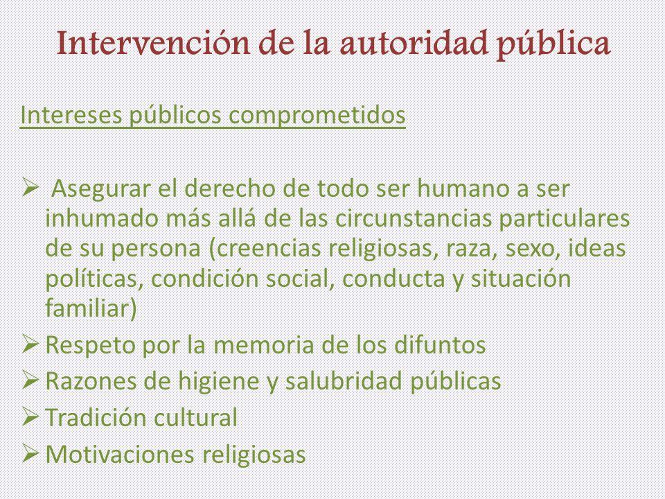 Intervención de la autoridad pública