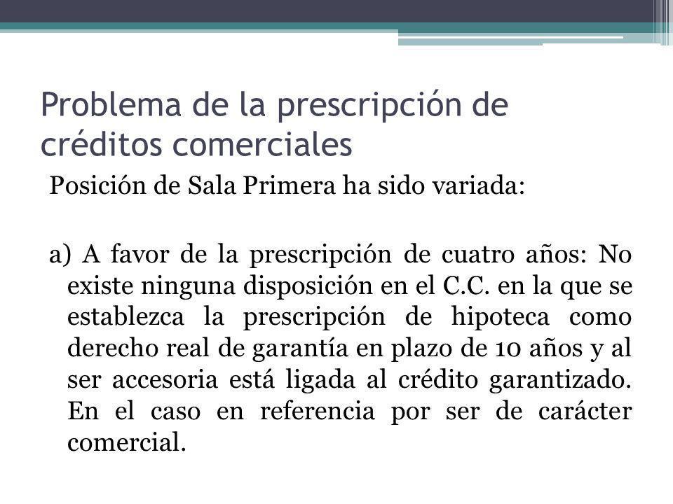Problema de la prescripción de créditos comerciales