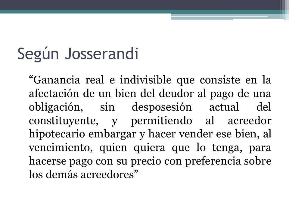 Según Josserandi