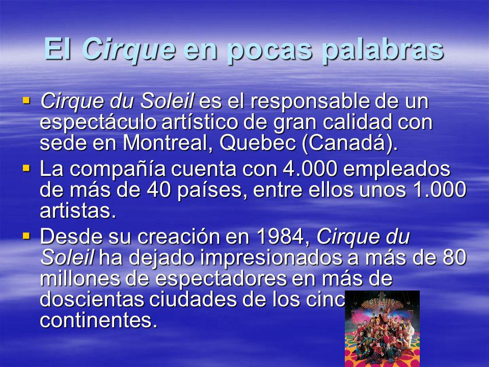 El Cirque en pocas palabras