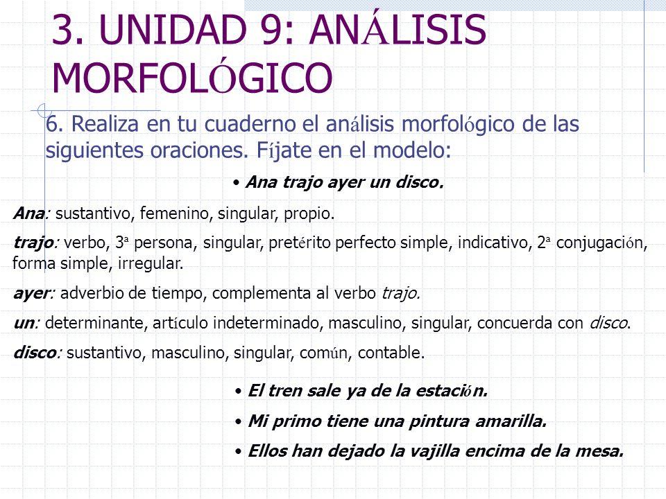 3. UNIDAD 9: ANÁLISIS MORFOLÓGICO