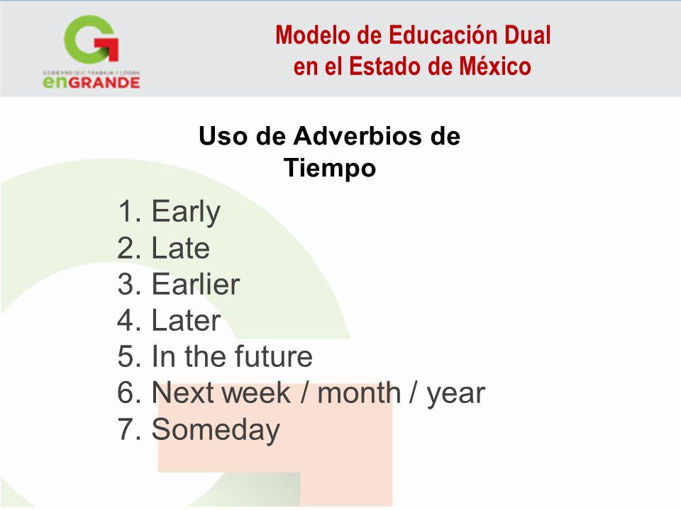 Modelo de Educación Dual Uso de Adverbios de Tiempo