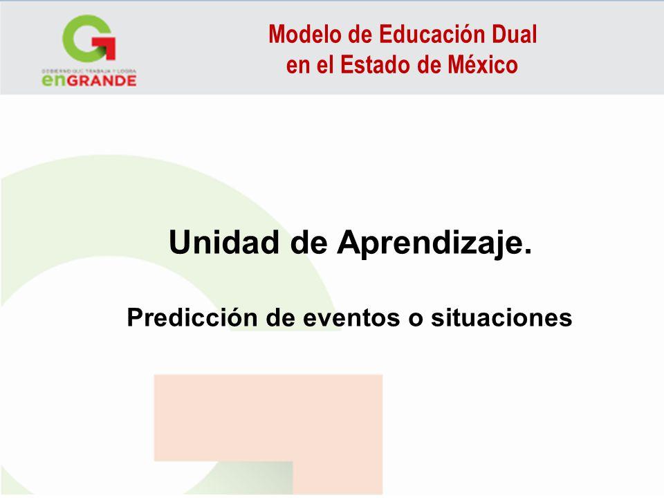 Modelo de Educación Dual Predicción de eventos o situaciones