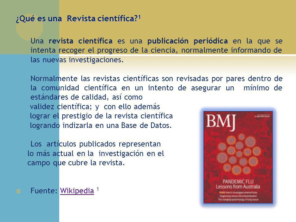 ¿Qué es una Revista científica 1