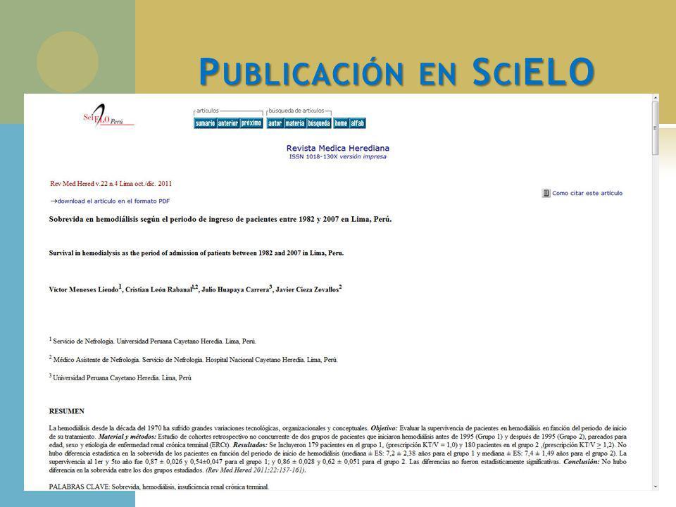 Publicación en SciELO