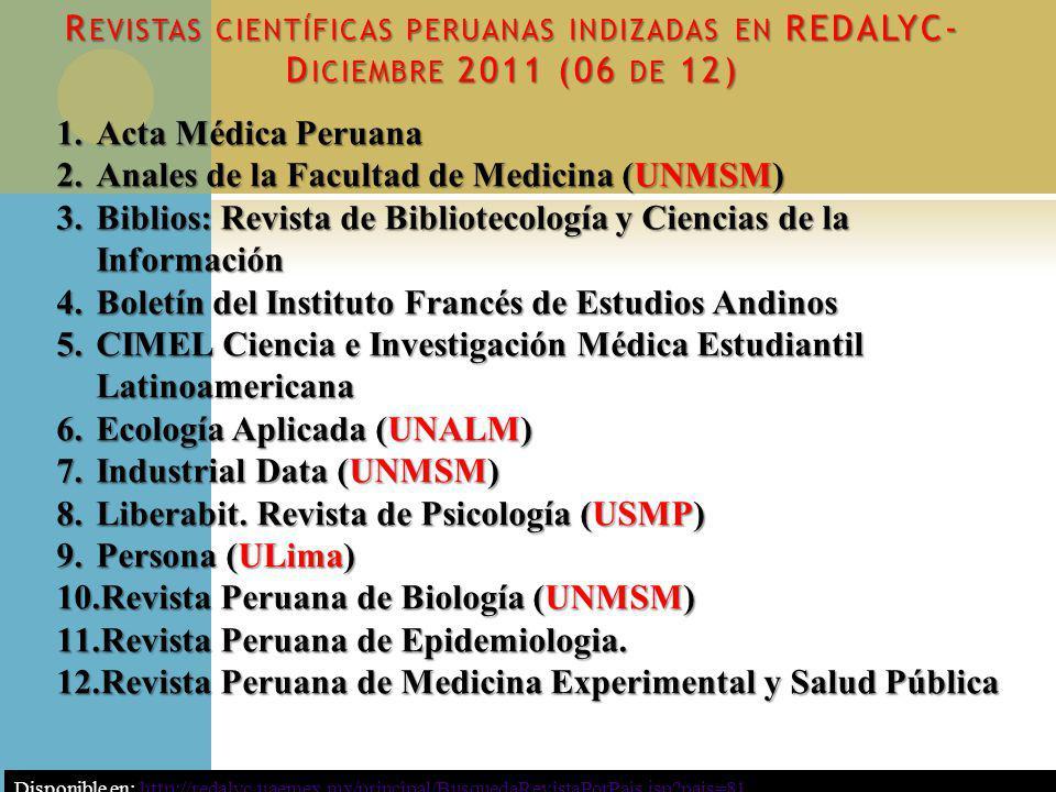 Anales de la Facultad de Medicina (UNMSM)