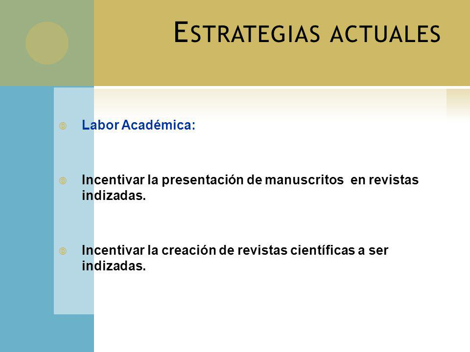 Estrategias actuales Labor Académica:
