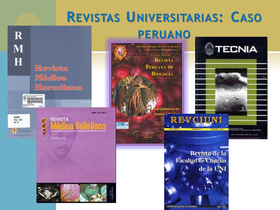 Revistas Universitarias: Caso peruano
