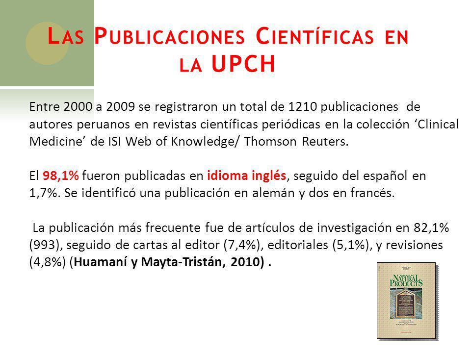 Las Publicaciones Científicas en la UPCH