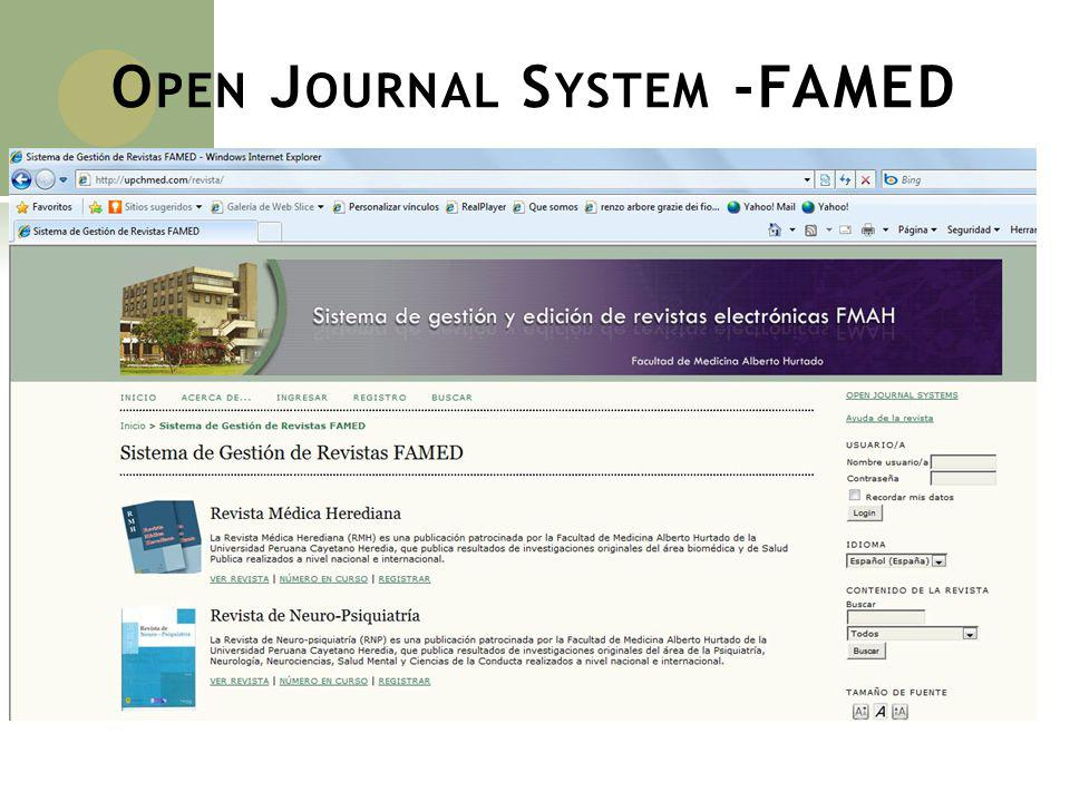 Open Journal System -FAMED