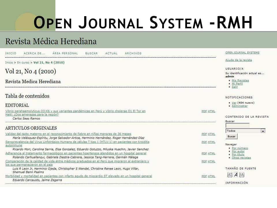 Open Journal System -RMH