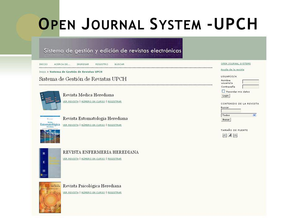 Open Journal System -UPCH
