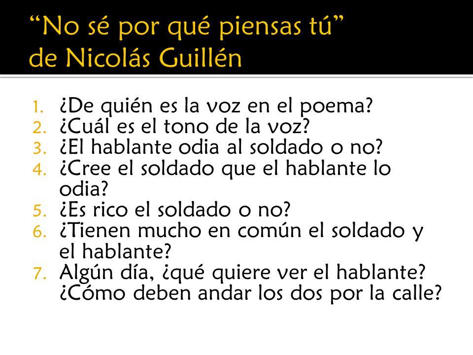 No sé por qué piensas tú de Nicolás Guillén