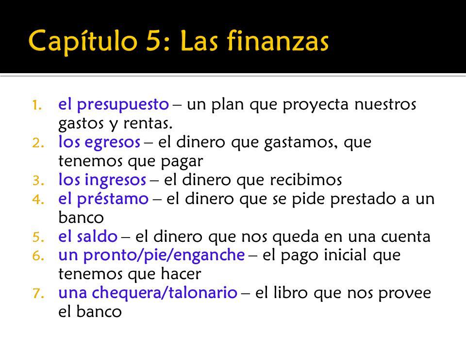 Capítulo 5: Las finanzas