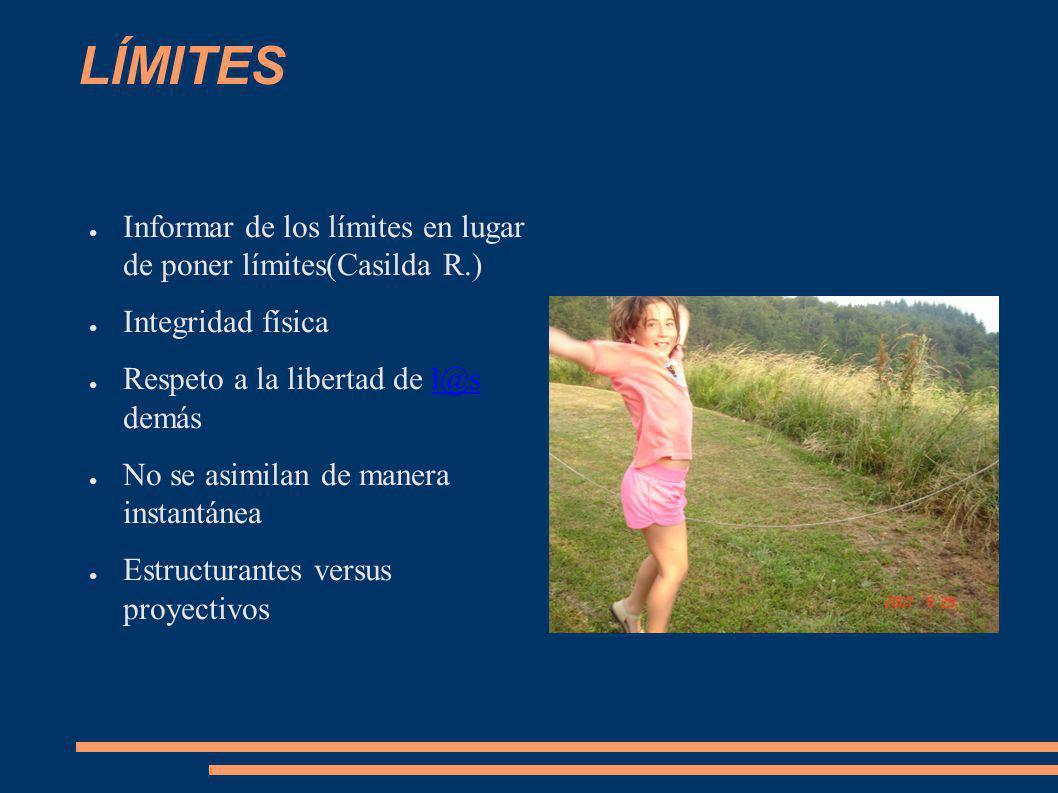 LÍMITES Informar de los límites en lugar de poner límites(Casilda R.)