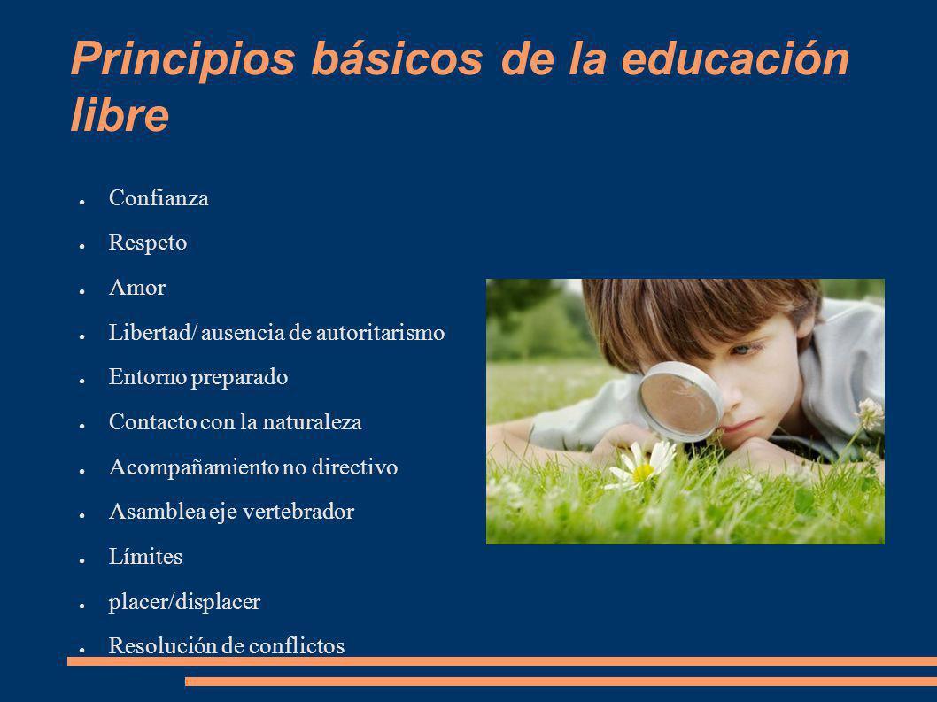Principios básicos de la educación libre