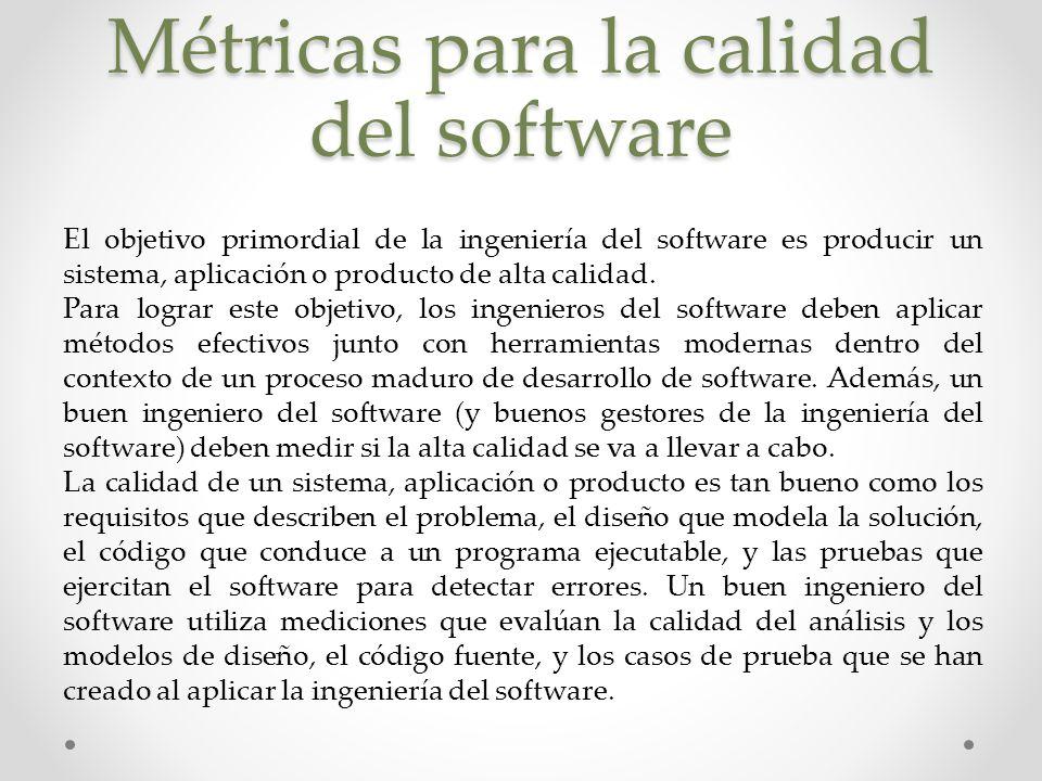 Métricas para la calidad del software