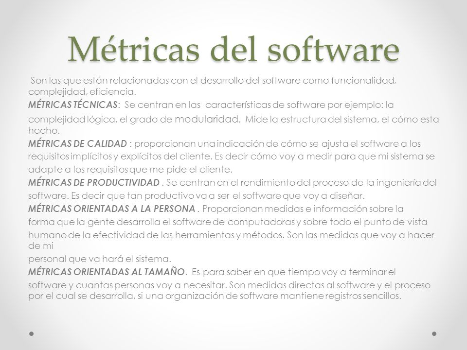 Métricas del software