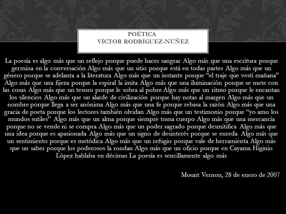 Poética Víctor Rodríguez-Núñez
