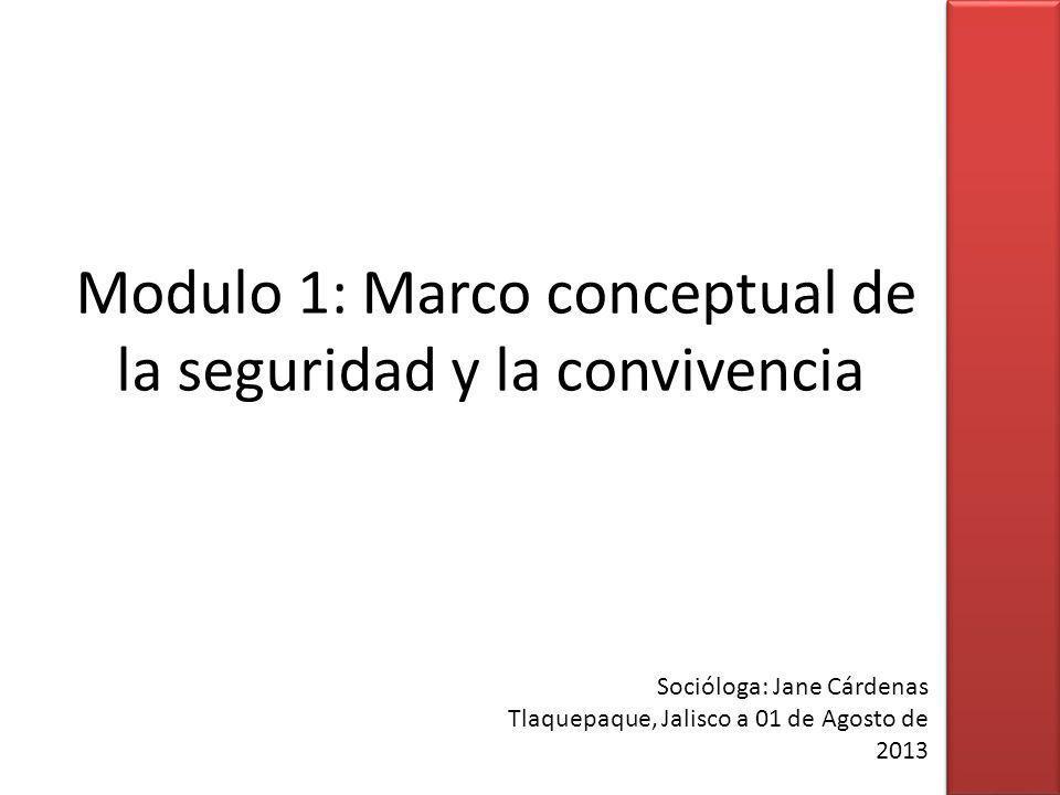Modulo 1: Marco conceptual de la seguridad y la convivencia
