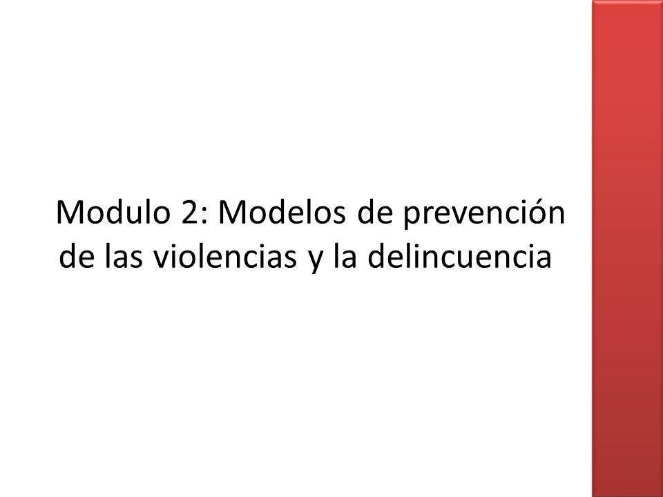 Modulo 2: Modelos de prevención de las violencias y la delincuencia