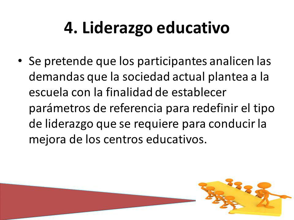 4. Liderazgo educativo