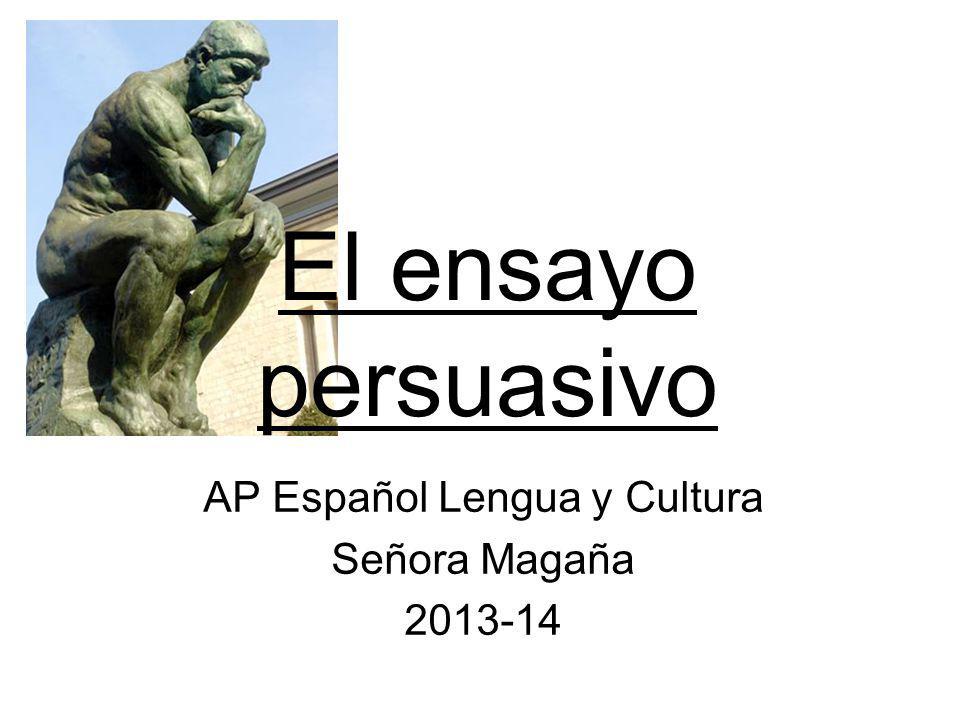 AP Español Lengua y Cultura Señora Magaña 2013-14