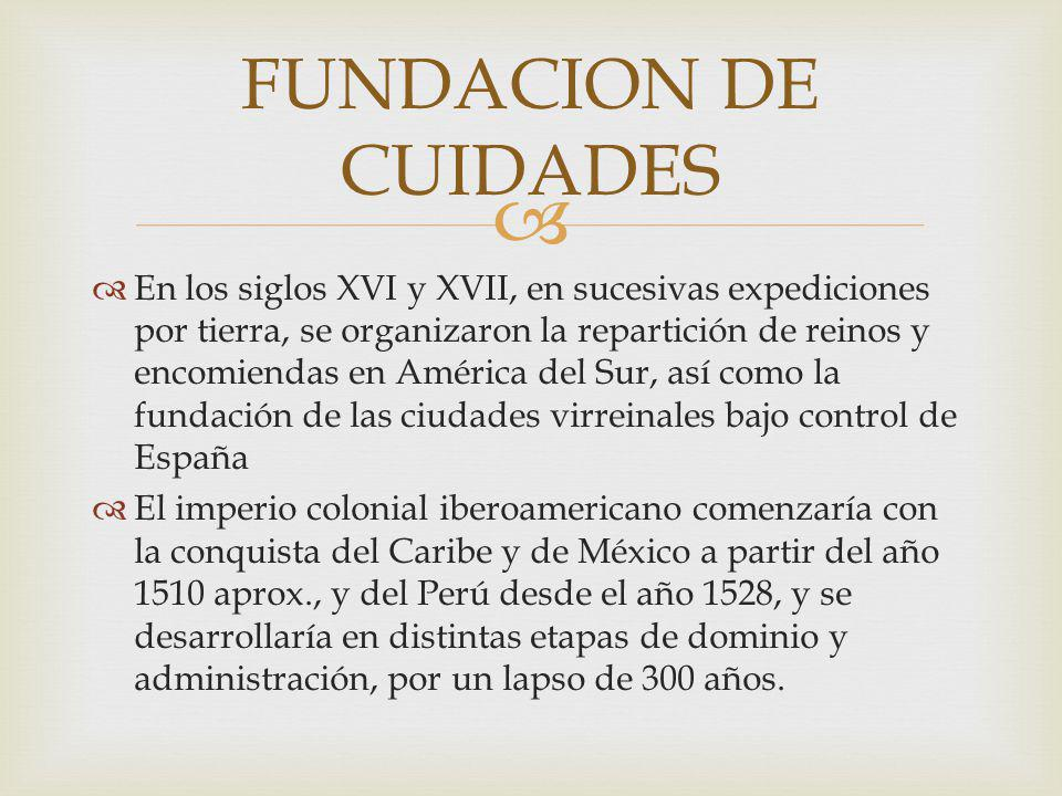 FUNDACION DE CUIDADES