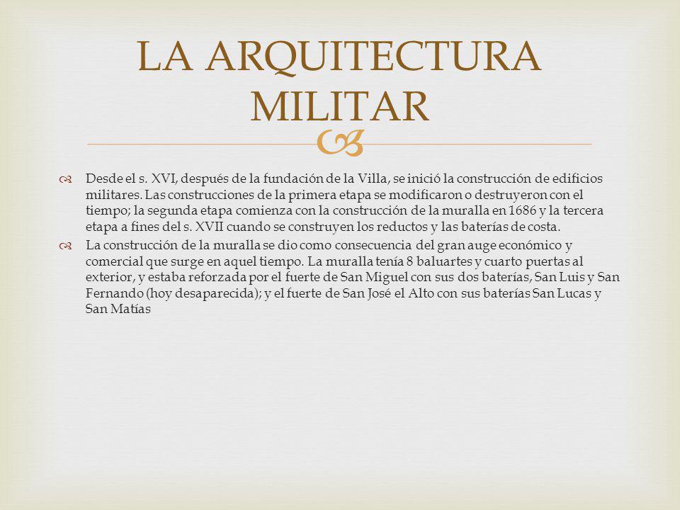 LA ARQUITECTURA MILITAR