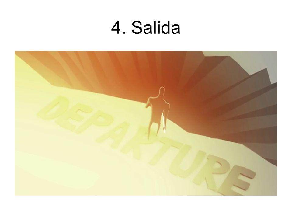 4. Salida El personaje abandona la comodidad y se lanza a la aventura.