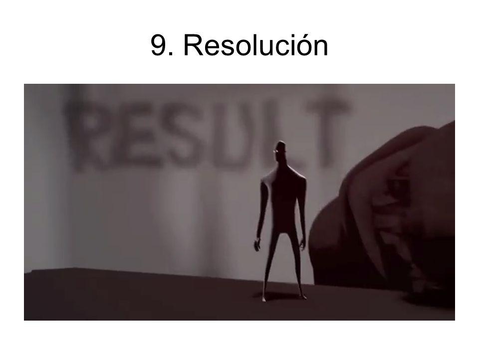 9. Resolución Termina los asuntos pendientes antes de regresar. Lapso por lo general muy corto.