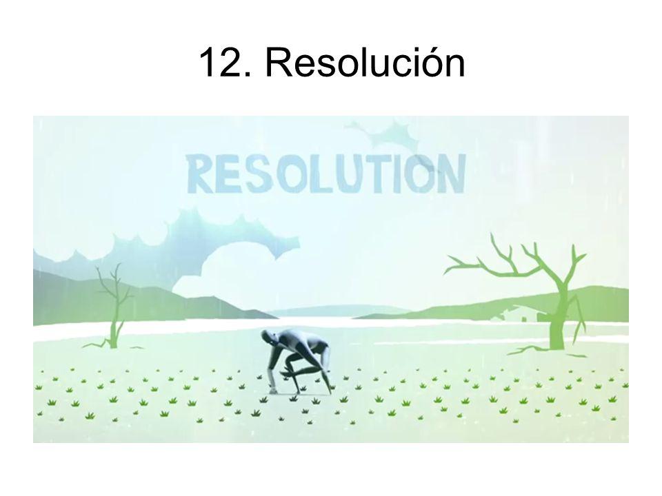 12. Resolución Concluye la aventura para comenzar de nuevo en Status Quo.