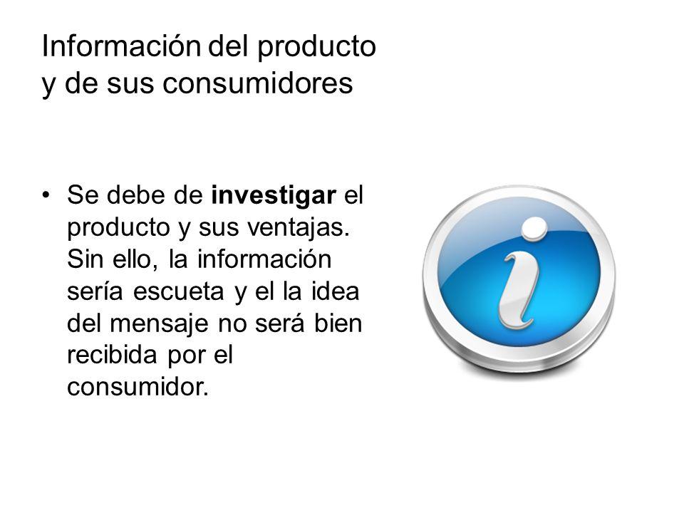Información del producto y de sus consumidores