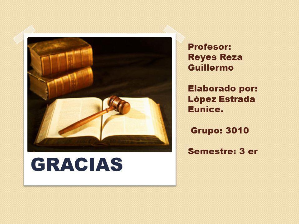Profesor: Reyes Reza Guillermo Elaborado por: López Estrada Eunice