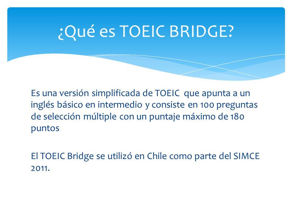 ¿Qué es TOEIC BRIDGE
