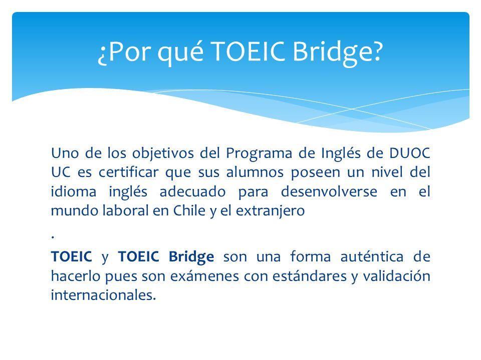 ¿Por qué TOEIC Bridge