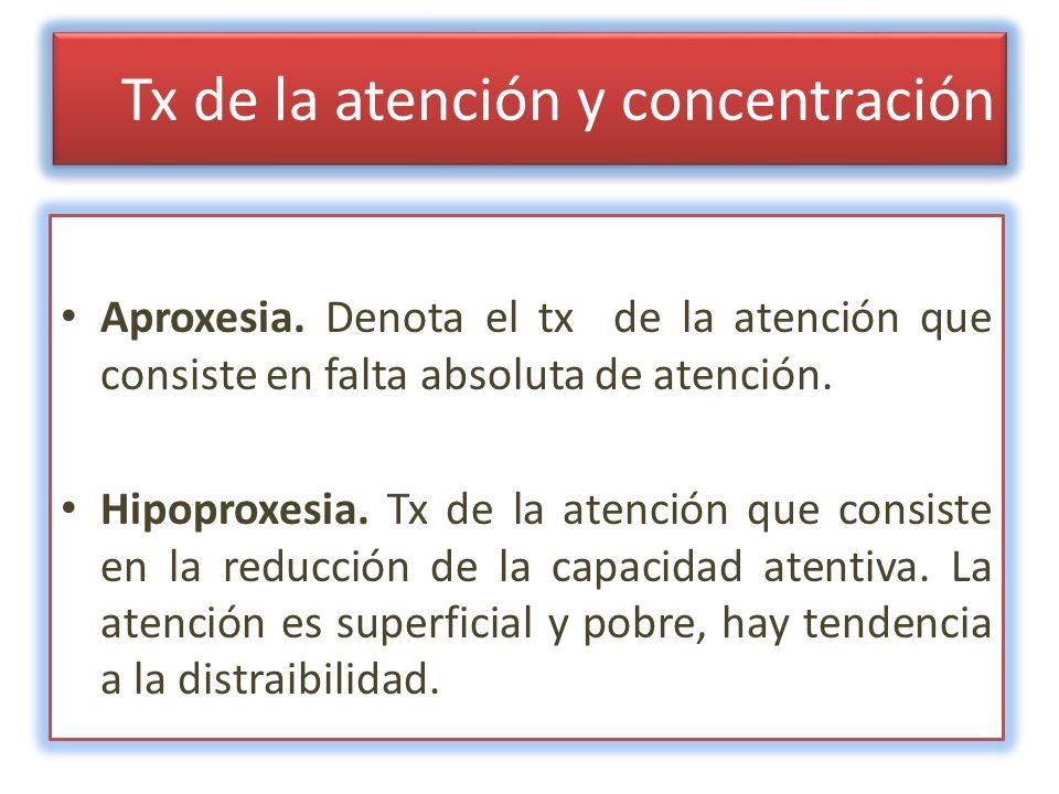 Tx de la atención y concentración