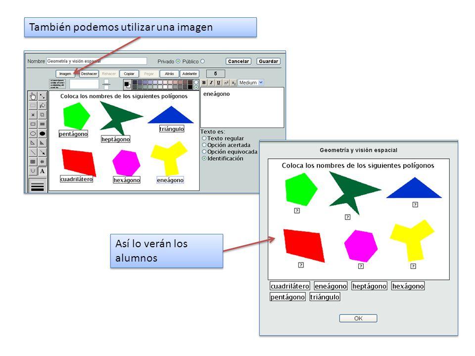 También podemos utilizar una imagen