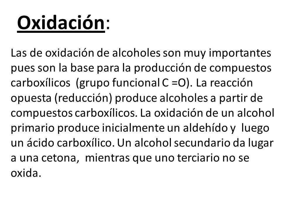 Oxidación:
