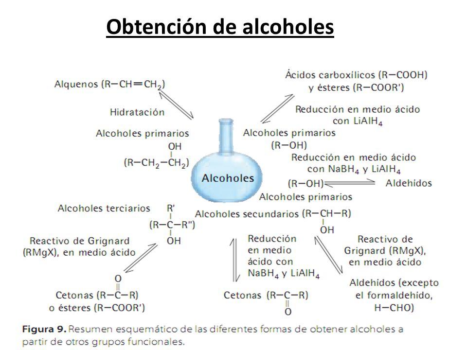 Obtención de alcoholes