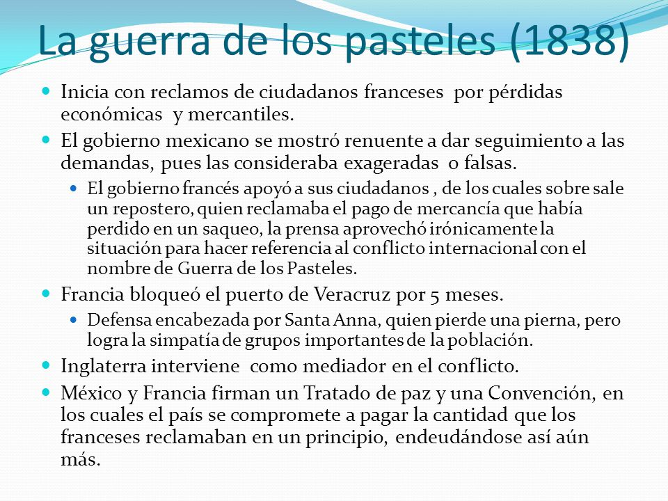 La guerra de los pasteles (1838)