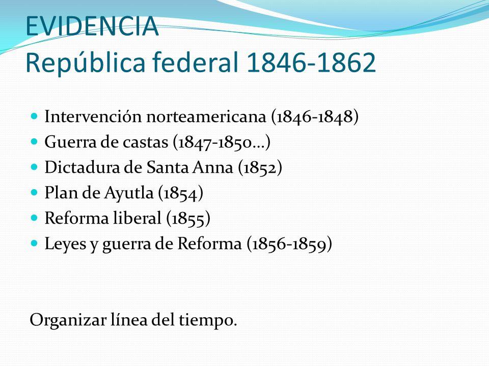EVIDENCIA República federal 1846-1862